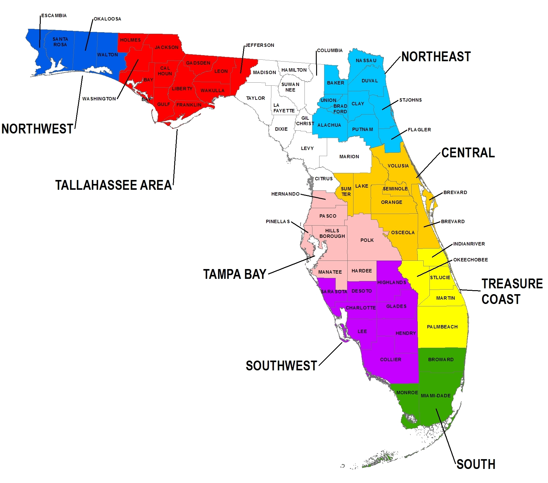 Florida Southwest Fl Map Viscom Sign Language Interpreting Services